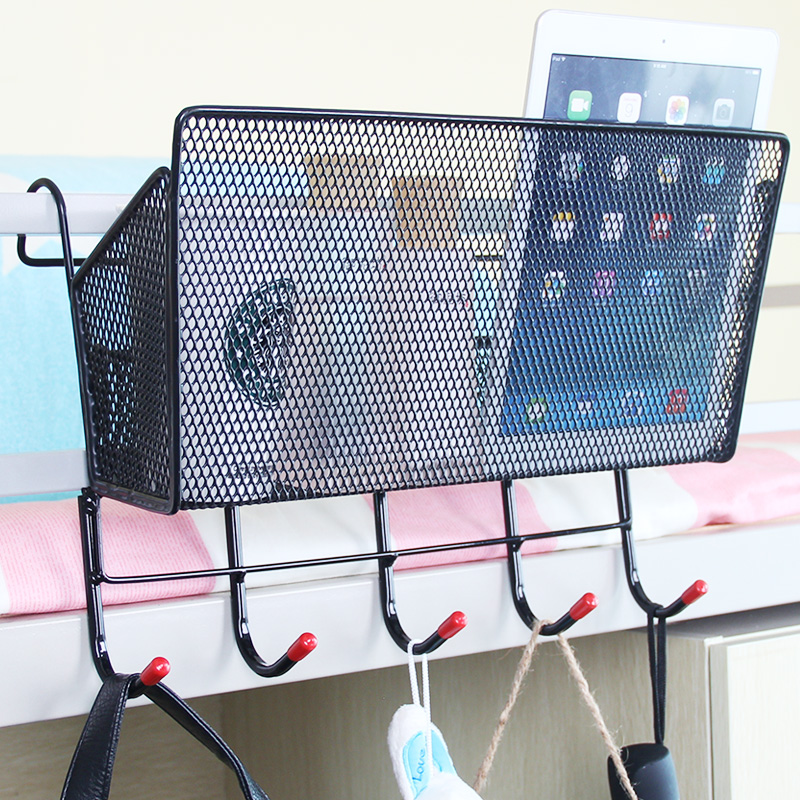 杜卡迪大學生宿舍床頭收納架框寢室置物架上鋪神器床邊儲物掛籃