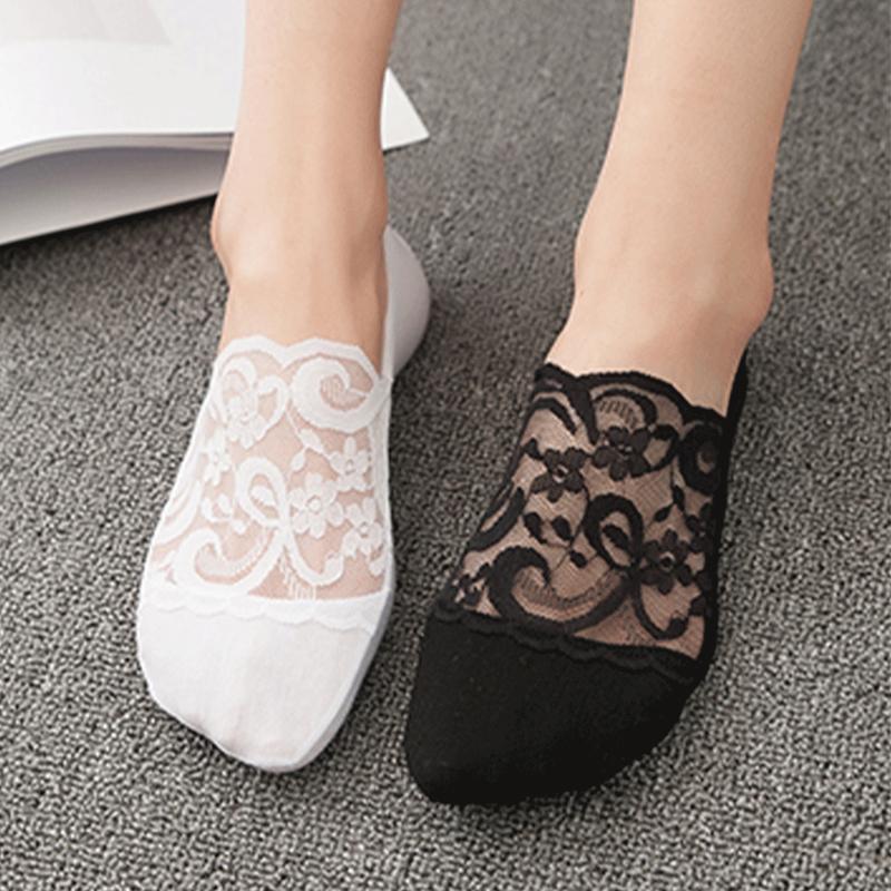 11月24日最新优惠袜子女超薄款隐形春夏季短袜蕾丝棉底船袜女硅胶防滑纯棉低帮袜子