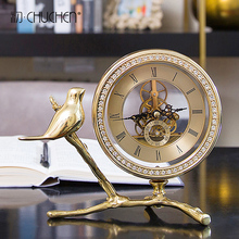 European style light luxury clock clock, desk clock, office soft decoration, living room, wine cabinet, bedside cabinet, decoration