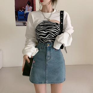 卫衣女装宽松韩版秋季2020新款设计感叠穿港风长袖上衣外套ins潮