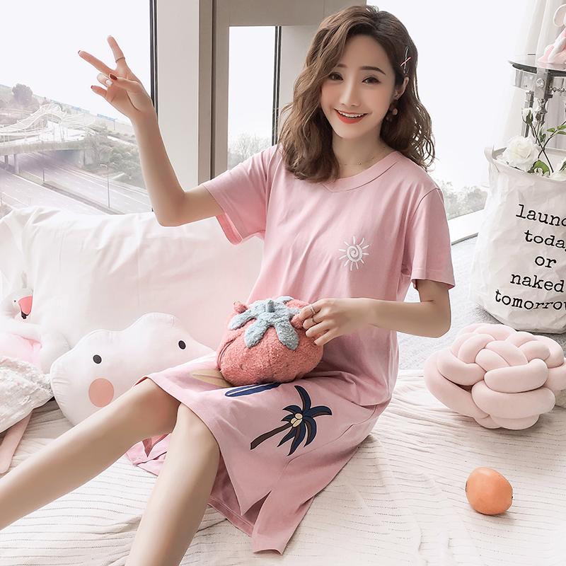 券后92.17元夏季韩版睡裙可外穿纯棉。纯棉睡衣