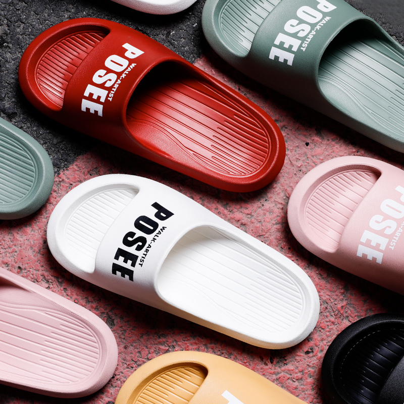 Pu Xi slippers for women and couples in summer; antiskid bathroom for children; bath for men; mute slippers for men; thick soles for outside wear