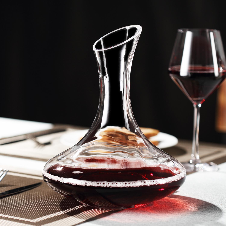 红酒醒酒器 透明玻璃葡萄酒醒酒器套装 家用欧式醒酒壶分酒器酒具 Изображение 1