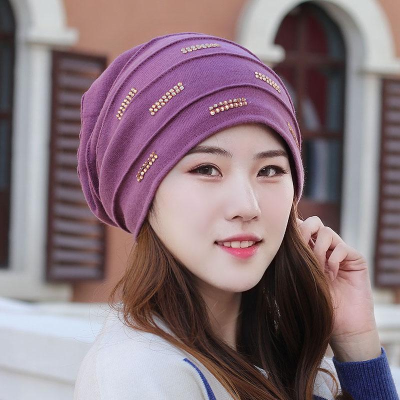 秋冬头巾帽大头围护耳布帽