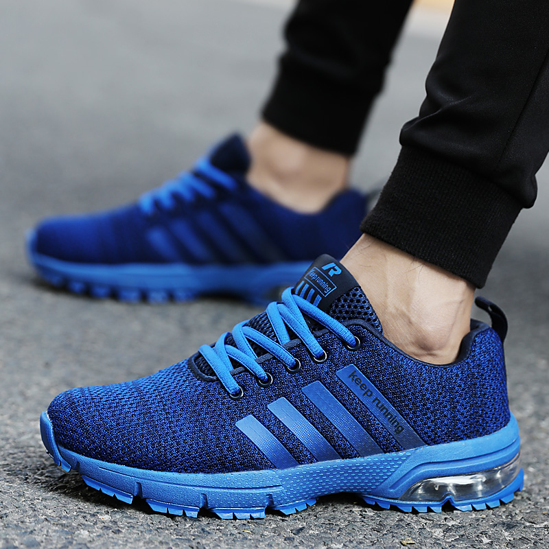 Lovers shoes leisure sports air cushion shoes flying textile shoes low top flat heel ultra light comfortable breathable walking shoes rubber sole