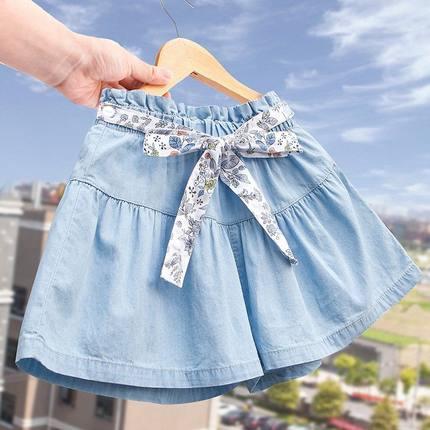 女童牛仔新款中大童韩版女裙短裤