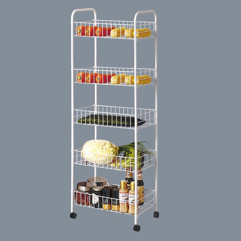 带轮子置物架蔬菜收纳架厨房移动手推车客厅整理花架水果放菜篮子10月10日最新优惠