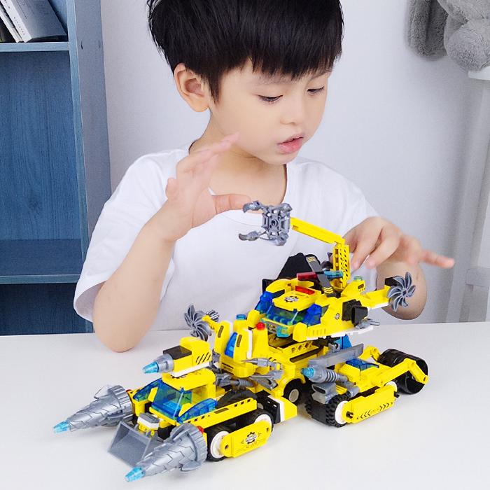 启蒙乐高男孩子益智6拼装儿童玩具热销31件有赠品
