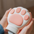 Cute cat claw hot water bottle cat hand warmer warm palace cartoon water injection girl explosion-proof silicone hot compress intimate gift