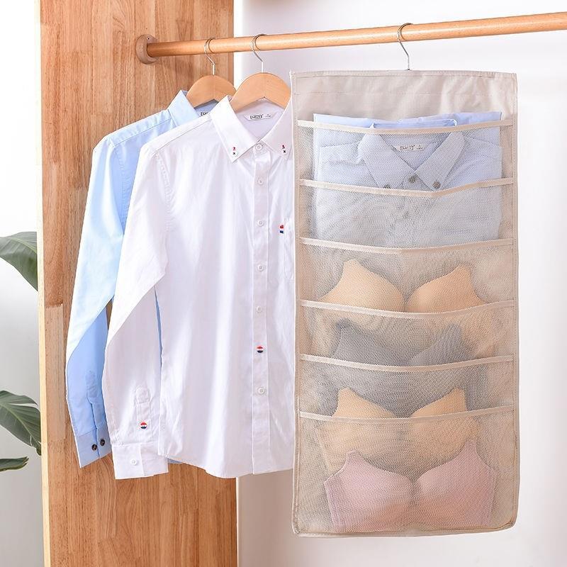 High grade finishing hanging bag for hanging goods t hanging bag behind door underwear Wenduo chest grid toilet sundries storage luxury