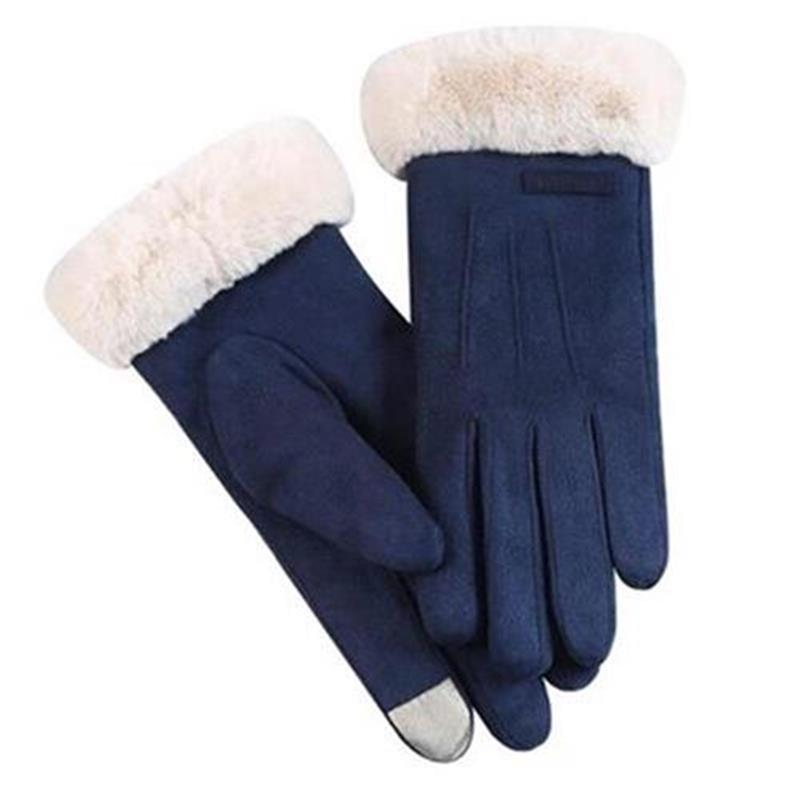 Gloves Winter womens inske n love cycling Japanese cycling thickened antifreeze touch screen plus cotton suede Korean version old