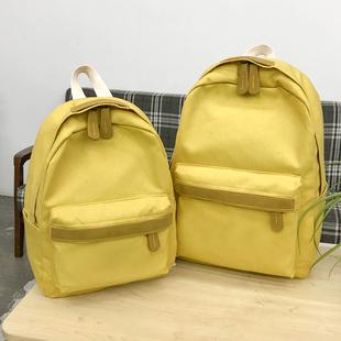 Портфель женщина корейский харадзюку ulzzang размер модель студент женщина рюкзак департамент твердый простой холст рюкзак