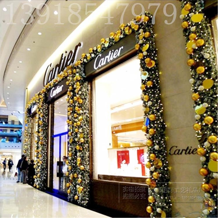 高档节藤条花环套餐2.7米 酒店商场橱诞门挂布置V圣窗树装饰奢华