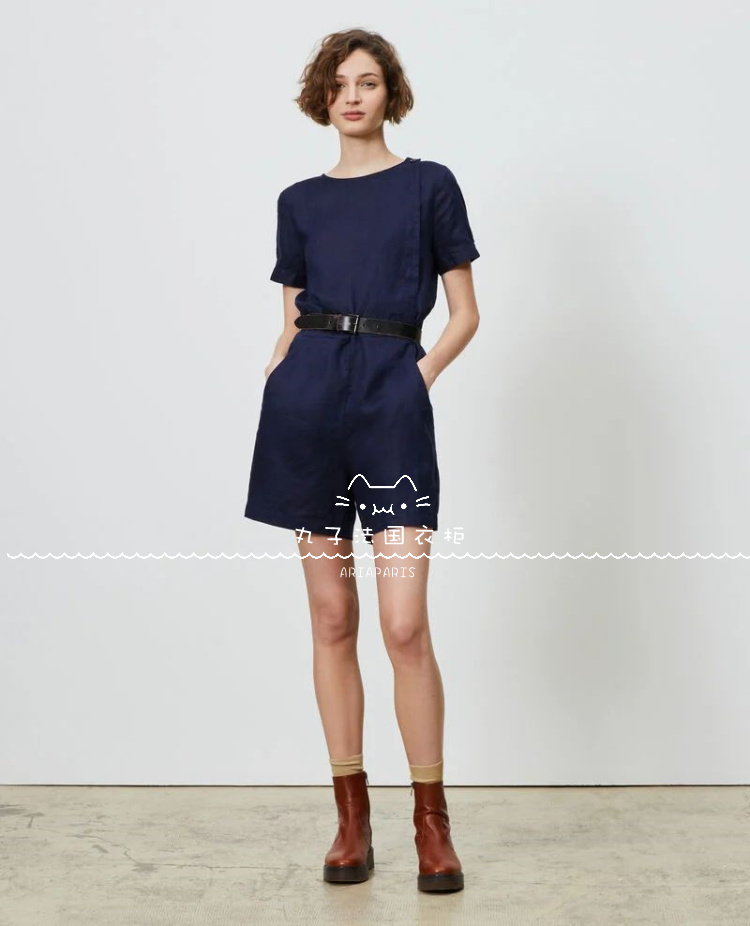 CDC 丸子 法国代购 21春夏 新款 女装 LARIONA  连衣亚麻3色短裤