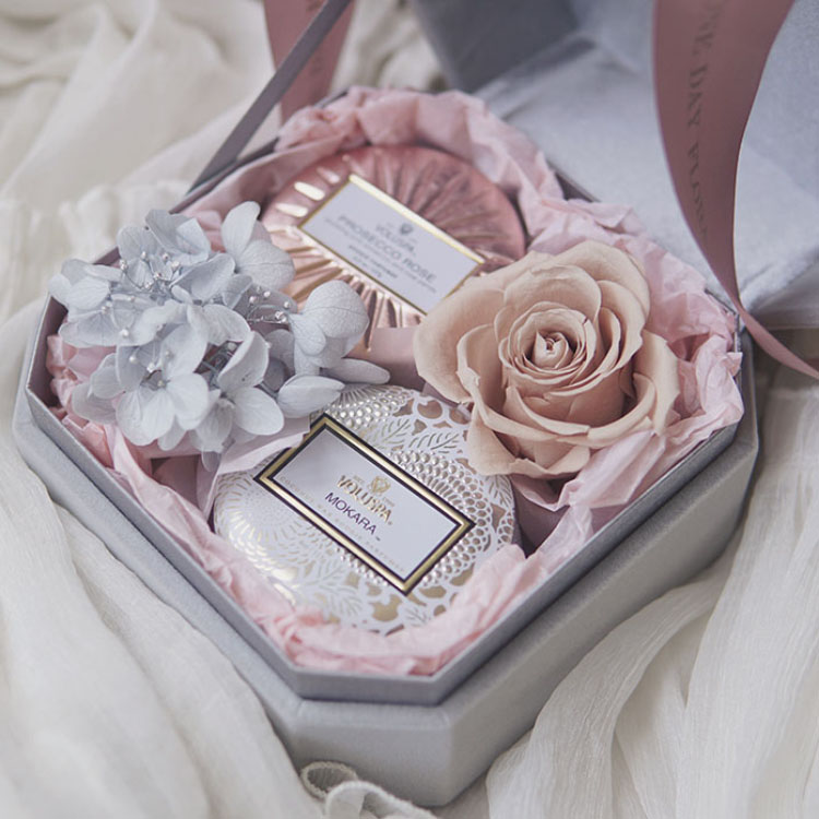 К сумерки цветок дом Voluspa вечная жизнь цветок коробка ароматерапия свеча подарок выйти замуж спутник рука церемония день рождения подарок отдавать подруга