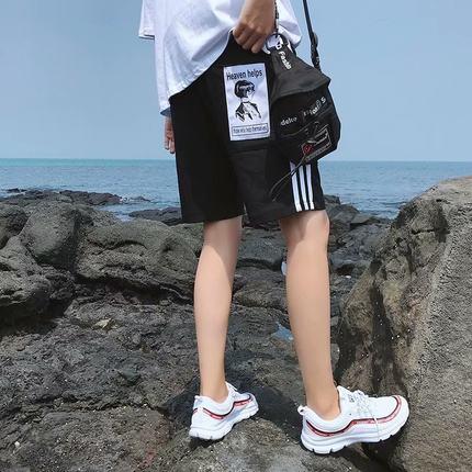 运动裤男宽松短裤男潮五分裤休闲裤5分裤夏天薄款裤子男韩版潮流