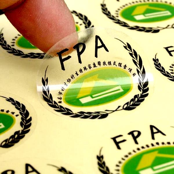 定制少量不干胶 彩色透明标签 化妆品标签贴纸 logo不干胶印刷