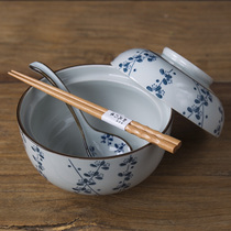 And wind Four Seasons spoon rice spoon Japanese spoon ceramic spoon noodle bowl spoon household porcelain spoon personality spoon