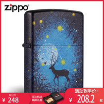 The original Zippo of the United States Bao lighter counter windproof color printing star Deer Man Gift collection Genuine