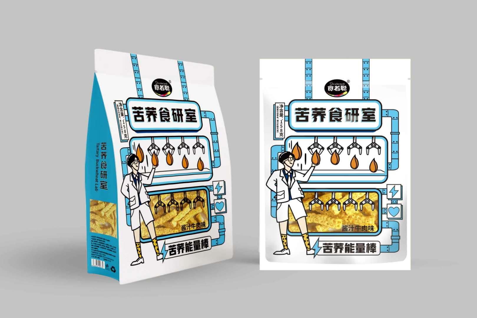 食者聪苦荞片零食小吃荞麦锅巴网红零食小包装办公室休闲食品180g