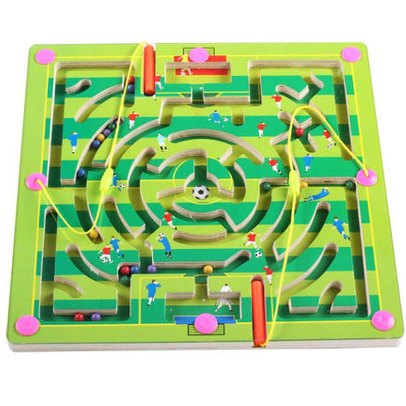 Ребенок магнитная сила лабиринт магнитный транспорт карандаш мяч магнит ребенок головоломка мужской и женщины ребенок интеллект игрушка 2-3-4-5 лет