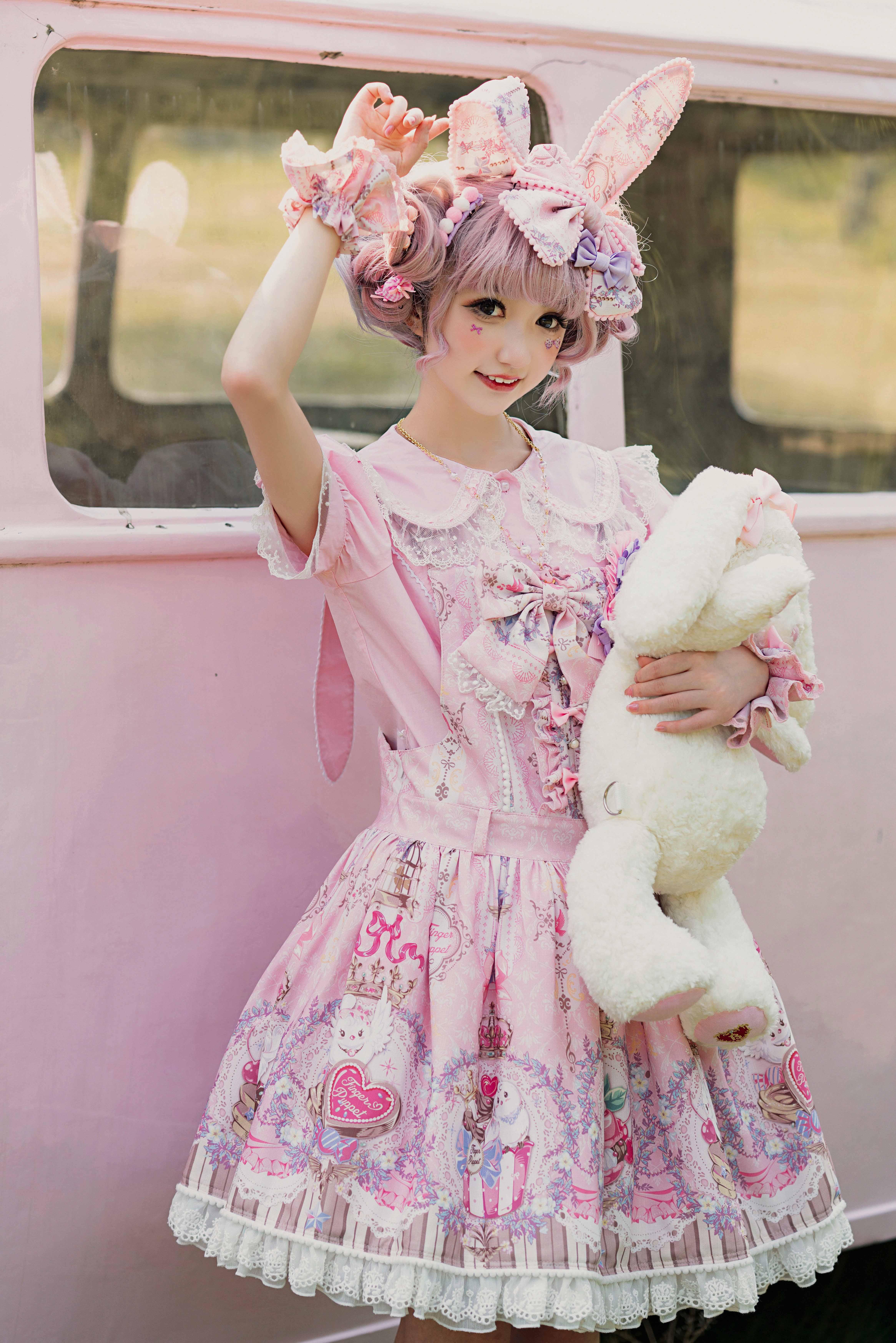[fingertip puppet studio] [wenniao sweetheart] SK strap / Lolita / tail Lolita