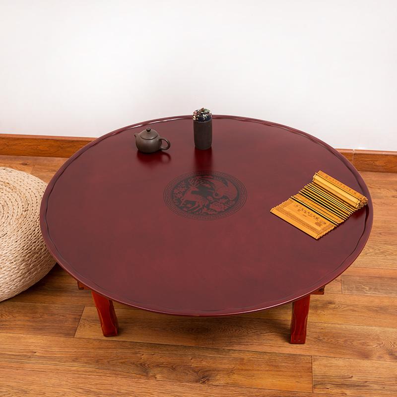 折叠炕桌矮餐桌日韩式榻榻米圆形桌子飘窗小几桌地桌吃饭餐桌家用