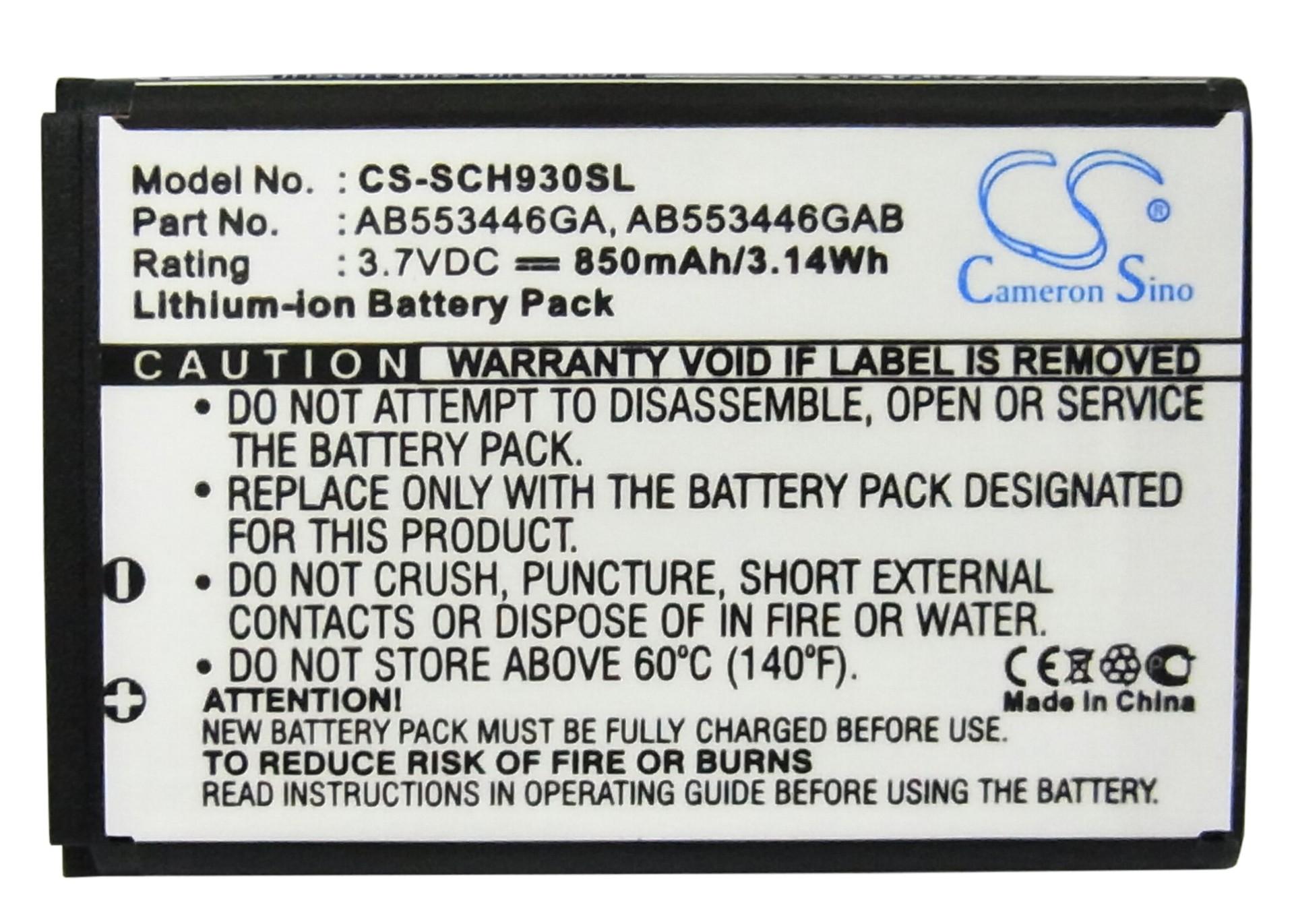 CameronSino适用三星 SCH-A930 SPH-A960手机电池AB553446GABSTD