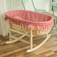 Спец. предложение Плетеный ротанг на младенца корзины на младенца Баскетбольная машина на младенца Кровать сон артефакт на младенца Колыбель может быть настроена