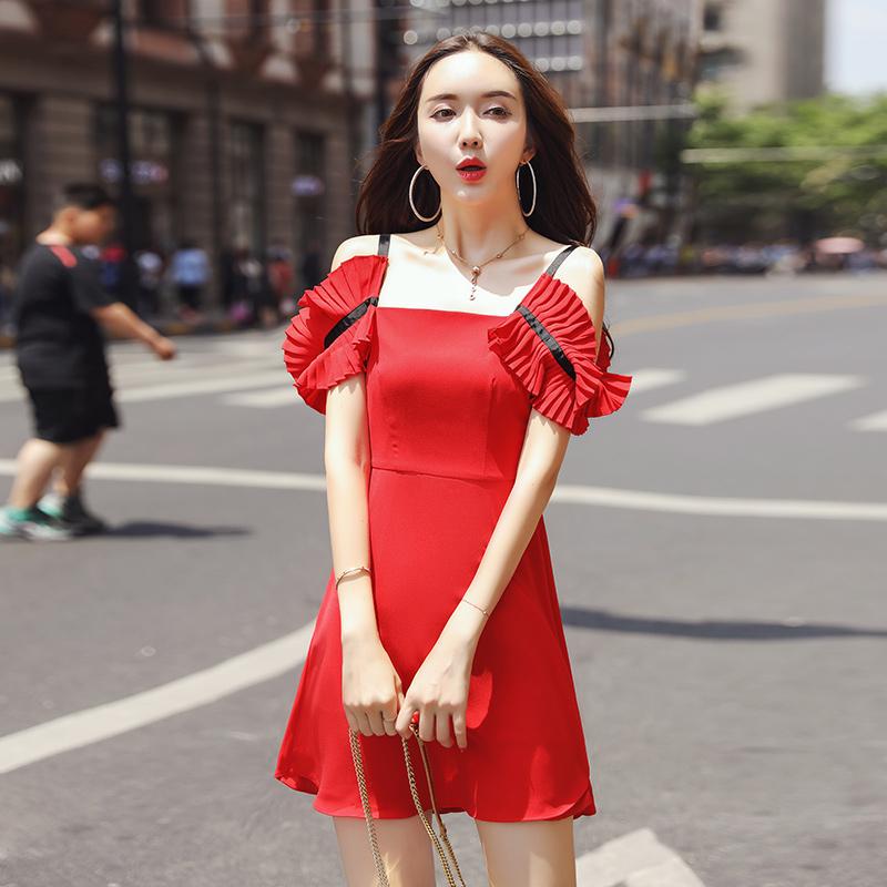 热销0件需要用券连衣裙女2019流行夏天裙子仙女超仙森系气质小清新吊带仙女裙夏季