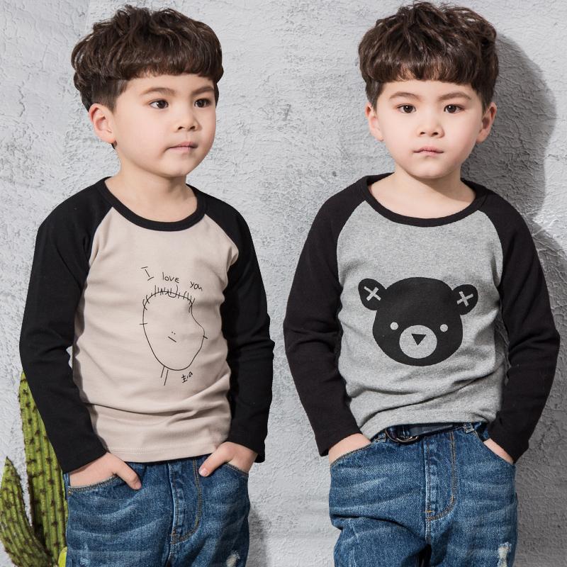 男童纯棉长袖卡通童装儿童春秋t恤