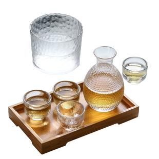 日式水晶套装玻璃酒具黄酒烫清酒壶