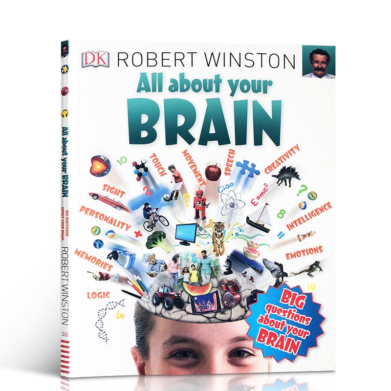 DK出版 All About Your Brain 关于你的大脑 儿童启蒙阅读英语认知图画英文原版进口书 内容丰富有趣亲子读物8-12岁Robert Winston