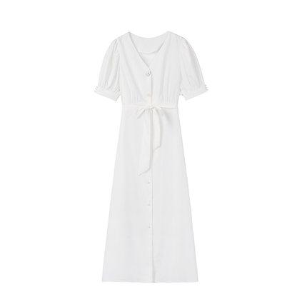 2019夏季新款收腰显瘦气质连衣裙