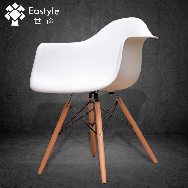 世途美式创意伊姆斯椅子简约时尚北欧欧式实木咖啡休闲电脑餐椅