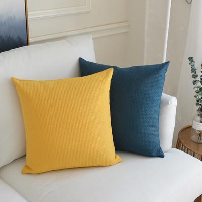北欧风纯色亚麻抱枕靠垫不含芯座椅腰枕客厅沙发正方形靠枕套定制