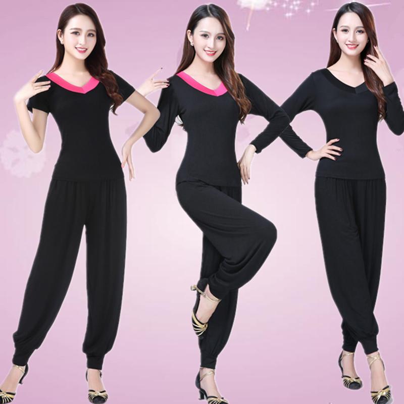 广场舞服装新款套装夏季莫代尔跳舞演出女杨丽萍运动中老年舞蹈服