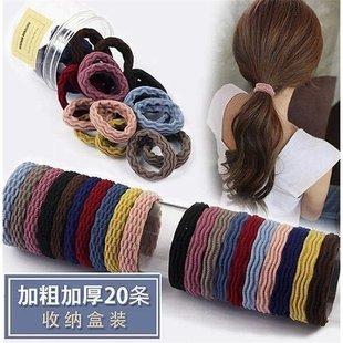 头绳韩版可爱网红爆款加粗高弹力毛巾圈无接缝耐用头绳皮筋发圈