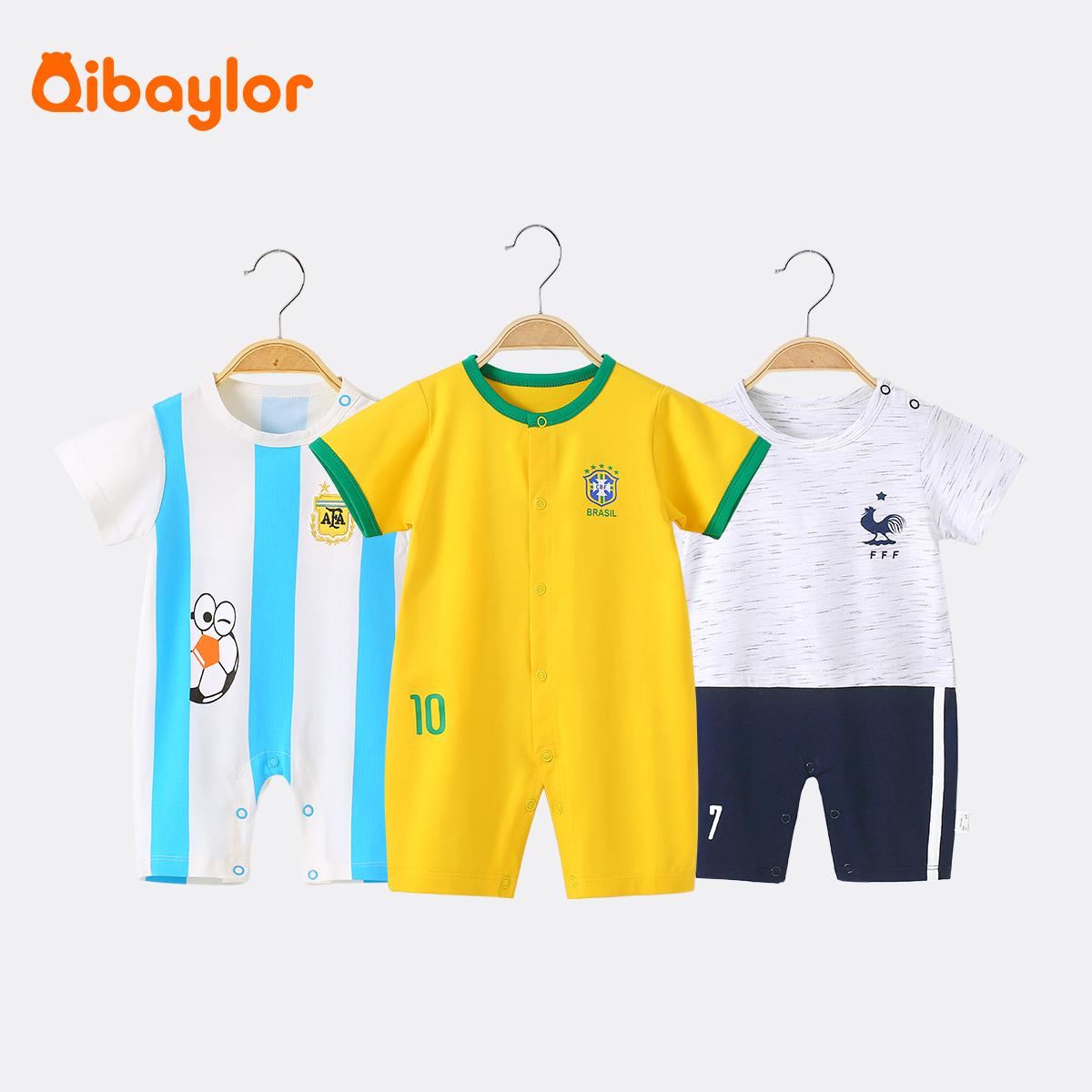 婴儿连体衣3新生儿4衣服5夏装6薄款女夏季男宝宝9夏天7八个月8夏2
