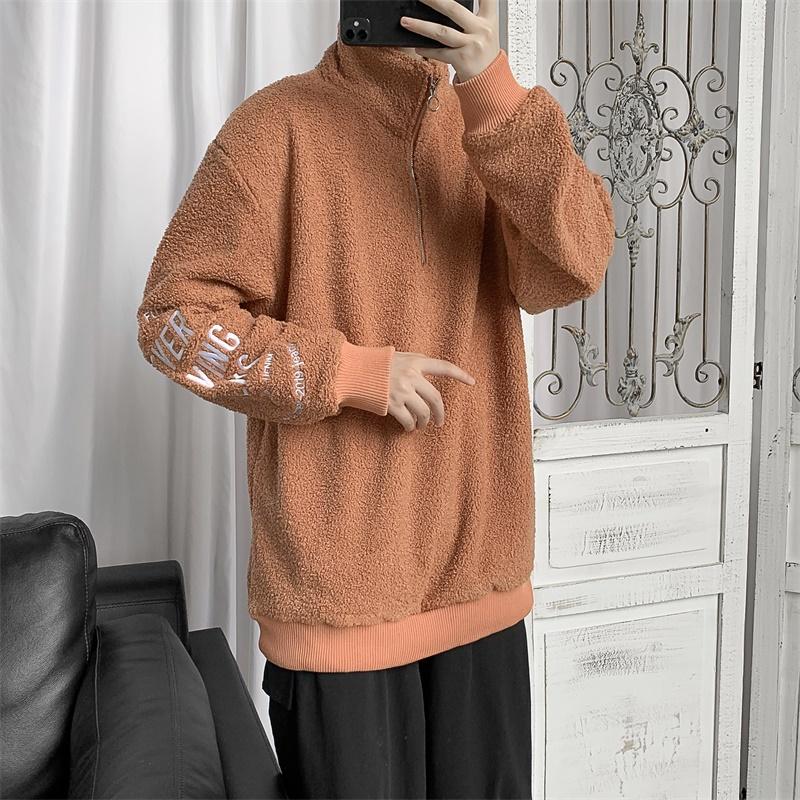 711 W205 P68 春新款泰迪绒情侣装卫衣 绣花韩版潮流 外套夹克男