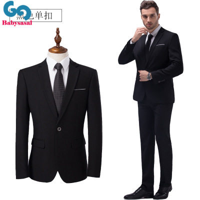 New men business casual suit bridegroom wedding jacket pant