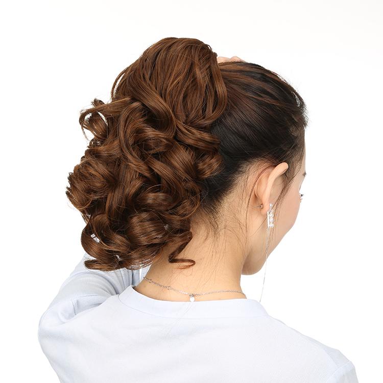Invisible simulation of short ponytail wig with female bandage