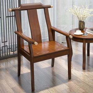 新中式围椅三件套禅意休闲椅茶椅太师椅洽谈椅家用阳台简约组