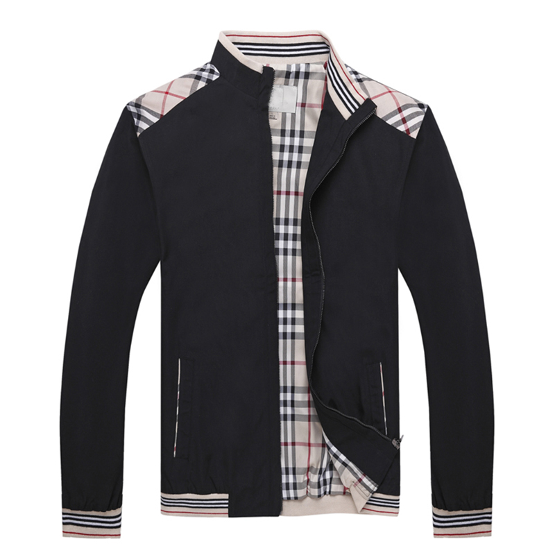 Jacket mens autumn thin fashion casual loose business middle aged mens coat spring fathers coat spring