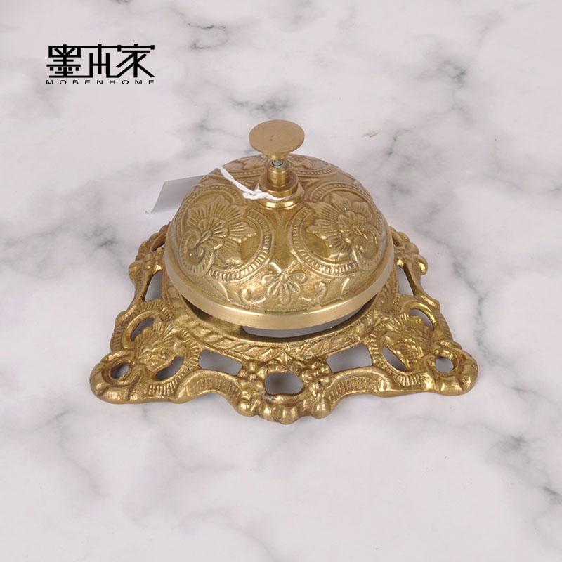 印度进口欧式铃铛纯铜酒吧餐厅吧台传菜铃餐桌铃叫餐铃按铃上菜铃