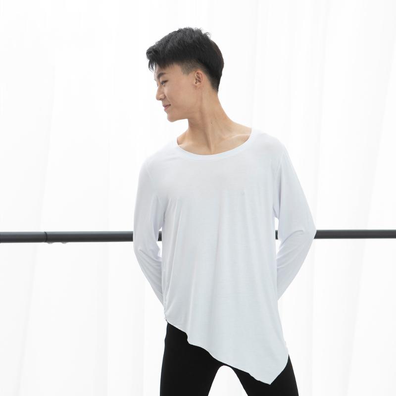 莫代尔长袖宽松现代舞蹈练功服t恤