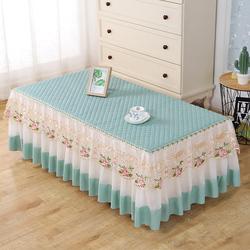茶几桌布长方形客厅餐桌防尘垫蕾丝电视柜帘盖布布艺全包茶几套罩