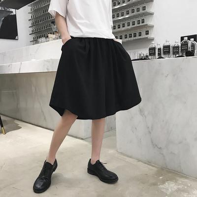 夏季新款小众设计日系宽松黑色短裤情侣款K131 P55(不低于65)