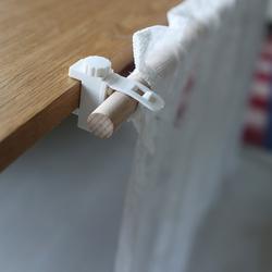 日单层板夹子免打孔固定柜子窗帘杆