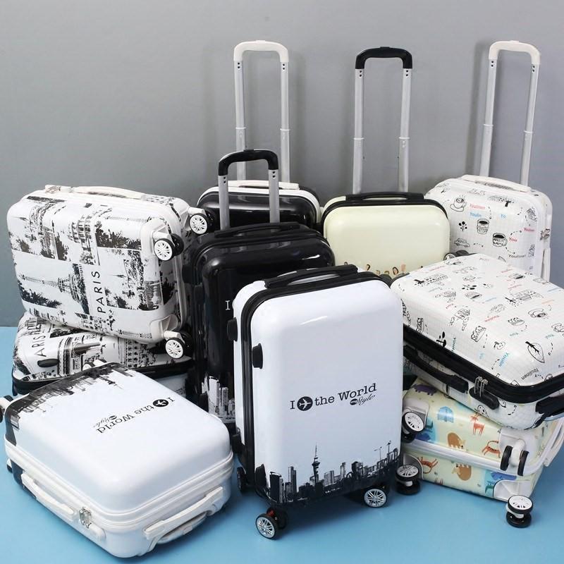 硬壳多功能24寸手拉拉杆行李箱万向轮四轮时尚个性锁男女大小号潮